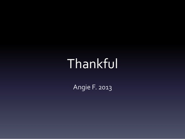 Thankful Journal 2014 Angie