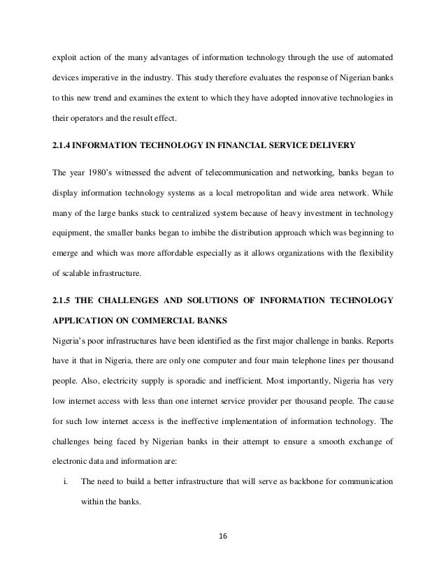 technology in banking sector essay