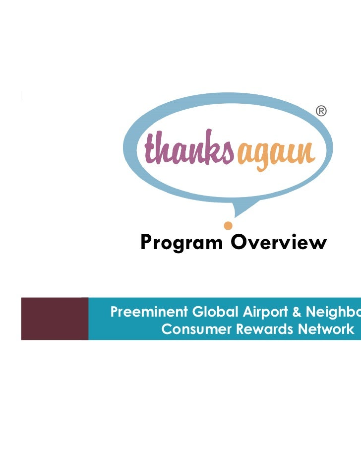 1        Program Overview    Preeminenttools for creating and presenting wide       Tips and Global Airport & Neighborhood...