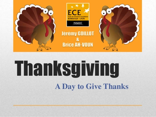 Thanksgiving A Day to Give Thanks
