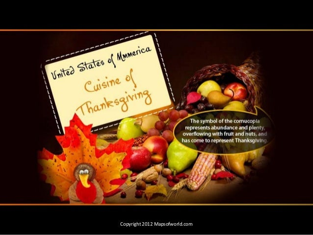 Thanksgiving Tradition, History & Cuisine - Infographic PDF