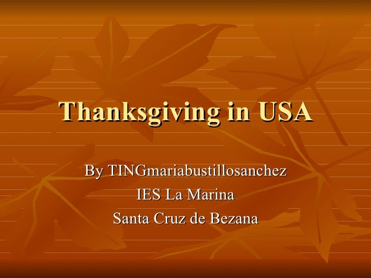 Thanksgiving In Usa