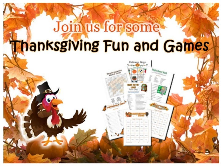 Thanksgiving Fun and Games