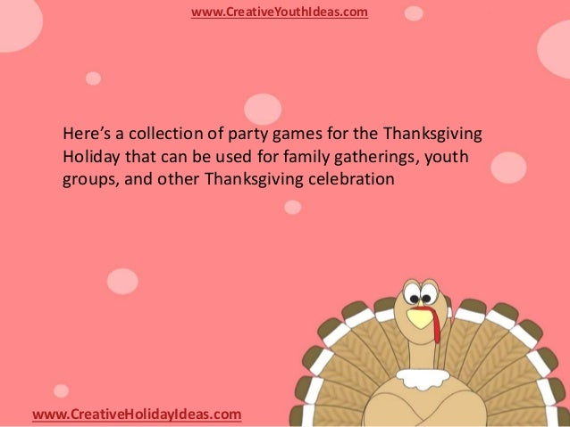 Thanksgiving Party Activity High Energy Thanksgiving