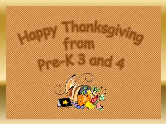 Celebrating Thanksgiving Grades PreK - 3.2013