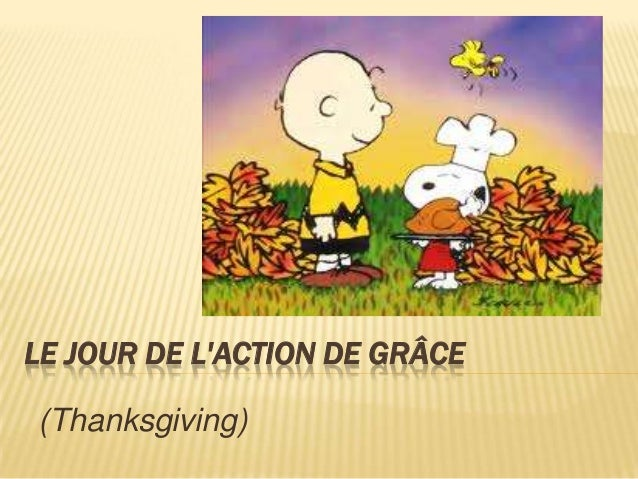 Thanksgiving words in French
