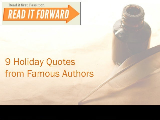 9 Holiday Quotes from Famous Authors