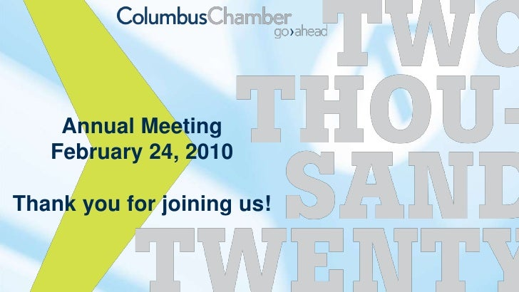 Annual Meeting<br />February 24, 2010<br />Thank you for joining us!<br />