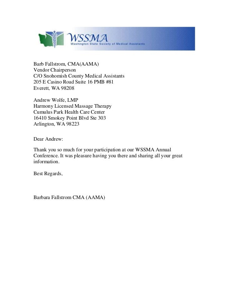 thank you letter harmony licensed massge therapy