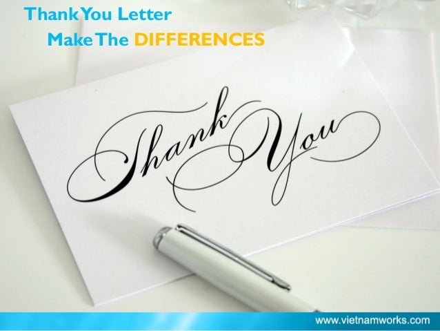 ThankYou Letter MakeThe DIFFERENCES