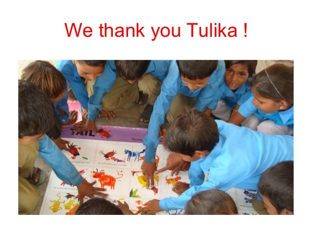 We thank you Tulika !