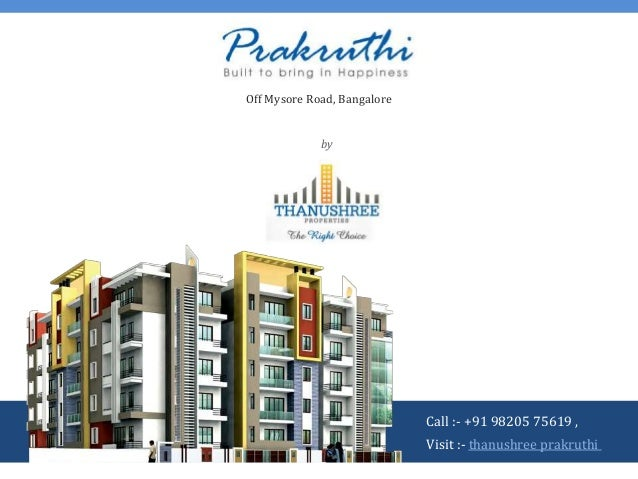 Thanushree Prakruthi at Mylasandra, Off Mysore Road, Bangalore