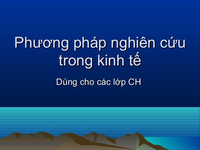 Thao luan phuong phap nckh