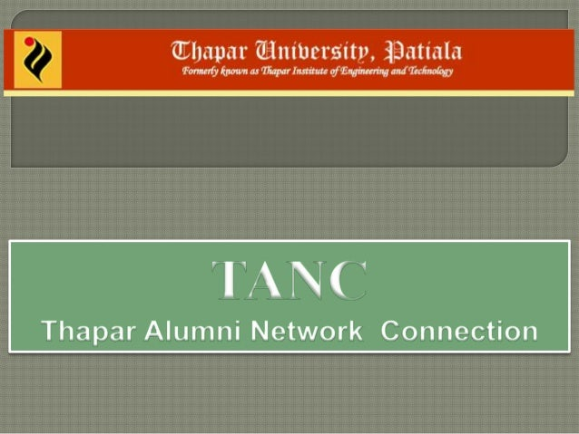 Thapar Alumni Network Connections (TANC)