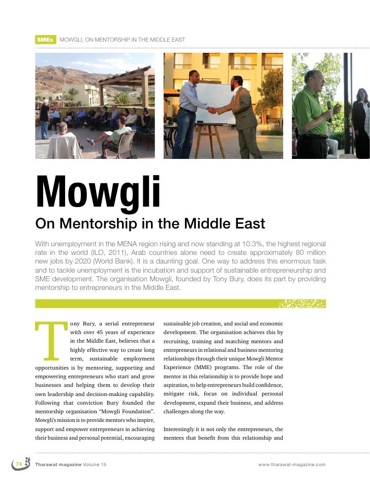 SMEs      MOWGLI, ON MENTORSHIP IN THE MIDDLE EAST     Mowgli     On Mentorship in the Middle East     With unemployment i...
