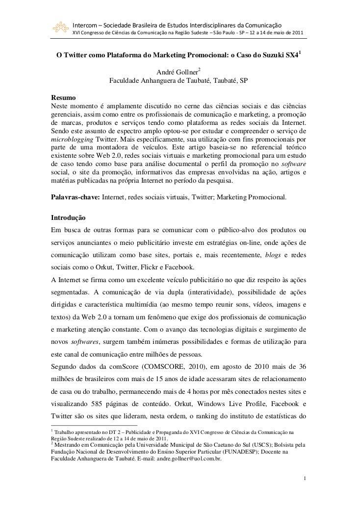 Intercom – Sociedade Brasileira de Estudos Interdisciplinares da Comunicação         XVI Congresso de Ciências da Comunica...