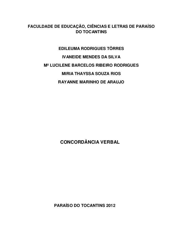 FACULDADE DE EDUCAÇÃO, CIÊNCIAS E LETRAS DE PARAÍSO                  DO TOCANTINS            EDILEUMA RODRIGUES TÔRRES    ...