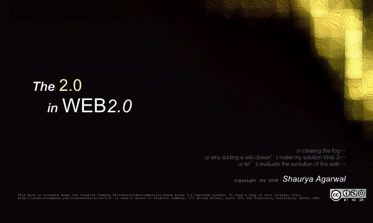 The 2.0 In Web 2.0