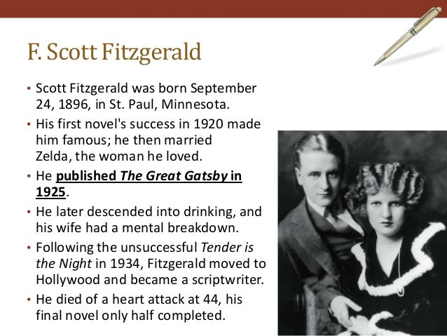 "ìthe great gatsbyî by f. scott fitzgerald essay The following is an excerpt from the essay ""the crack-up,"" reprinted from the  crack-up, a compilation of articles written by f scott fitzgerald and  not long  before, i had sat in the office of a great doctor and listened to a."