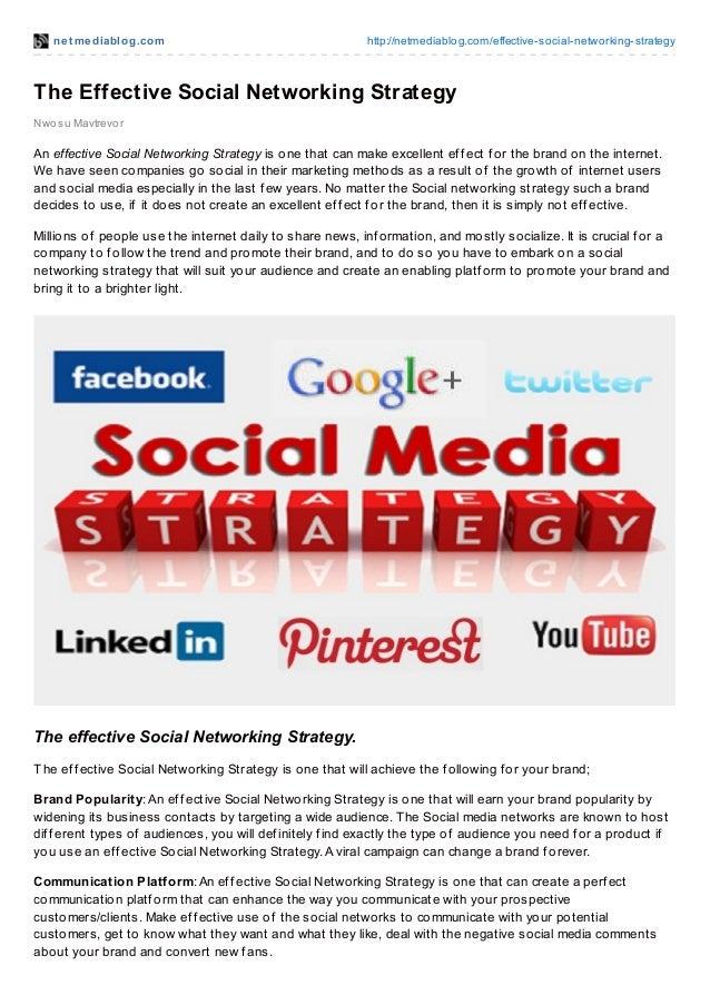 net mediablog.com http://netmediablog.com/effective-social-networking-strategyThe Effective Social Networking StrategyNwos...