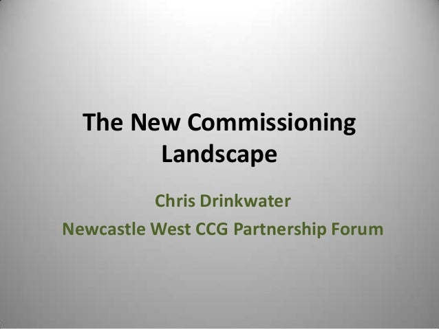 NEFF Event - The new commissioning landscape