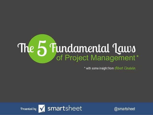 The 5 Fundamental Laws of Project Management