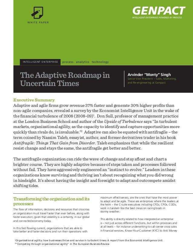 INTELLIGENT ENTERPRISE        The Adaptive Roadmap in                                                                    A...