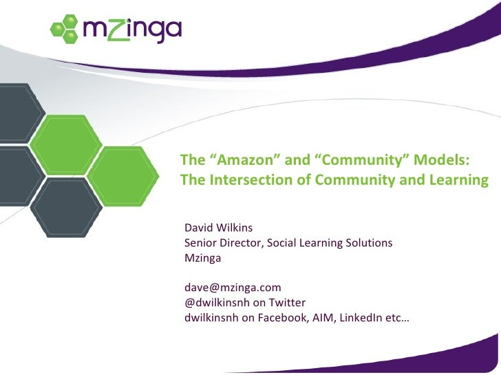 """The """"Amazon Model"""" and """"Community Model"""" - the intersection of LMS and Learning 2.0"""