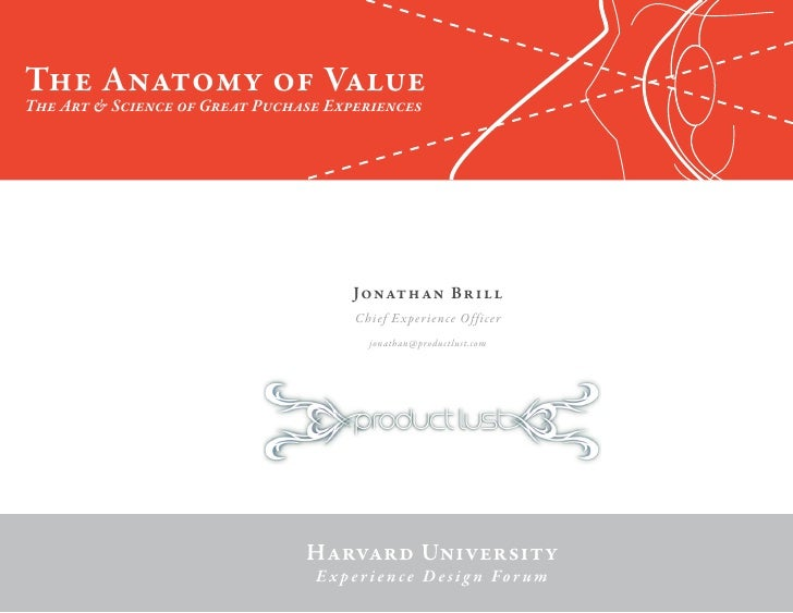 The Anatomy Of Value
