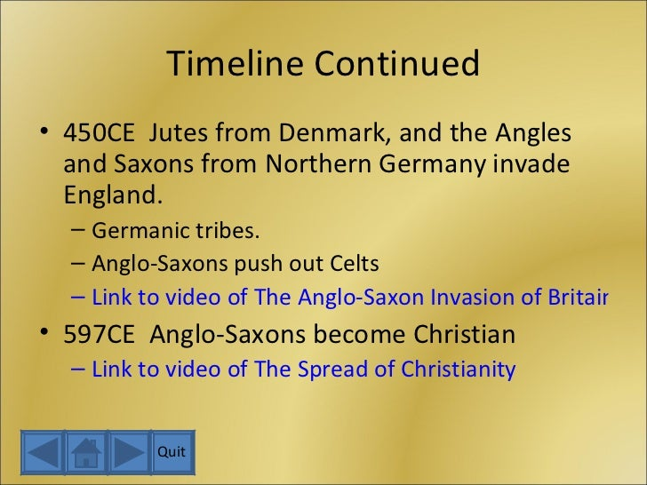 Anglo Saxon Invasion Timeline The Anglo-saxon Invasion
