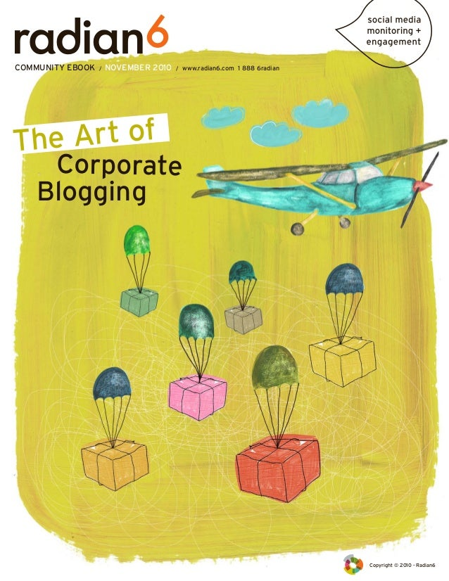 The Art of Corporate Blogging