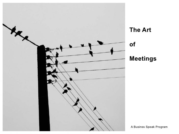 The Art  of  Meetings     A Businss Speak Program