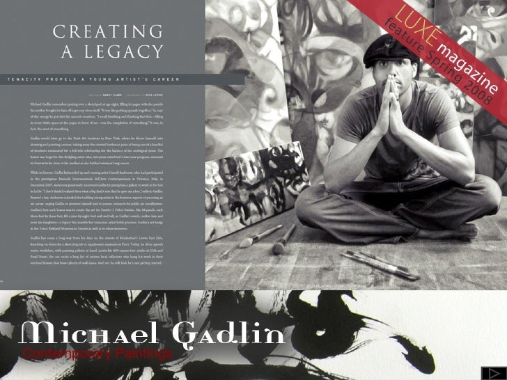 The Art of  Michael Gadlin