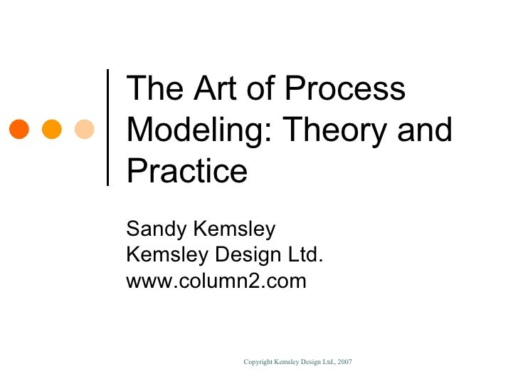 The Art of Process Modeling: Theory and Practice