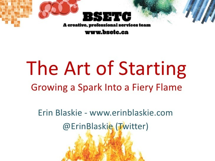 The Art Of Starting