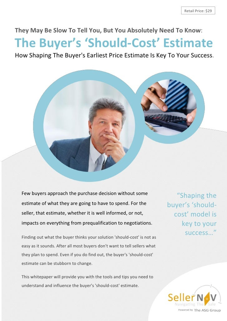 Retail Price: $29They May Be Slow To Tell You, But You Absolutely Need To Know:The Buyer's 'Should-Cost' EstimateHow Shapi...