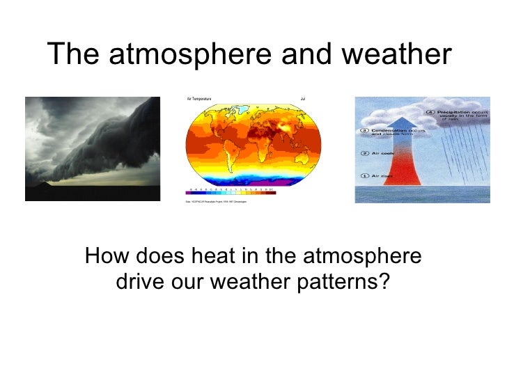 The atmosphere and weather How does heat in the atmosphere drive our weather patterns?