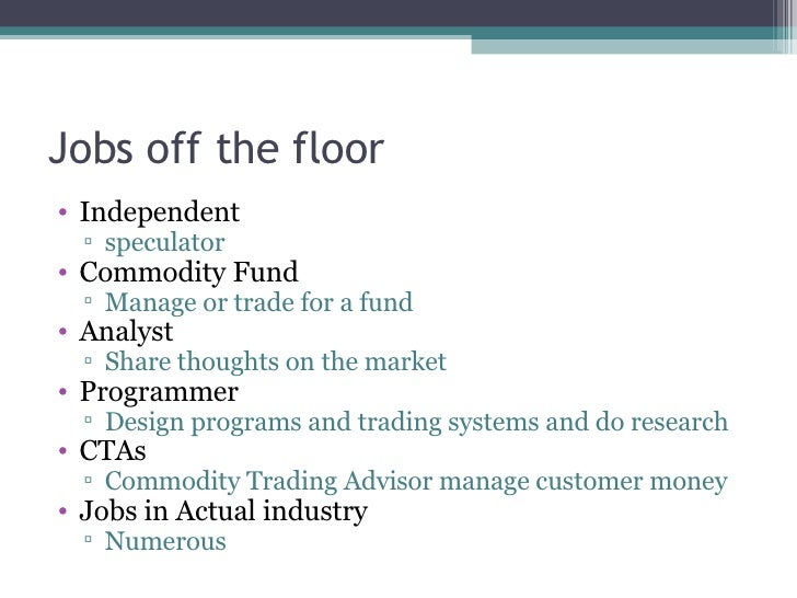 Options trading jobs