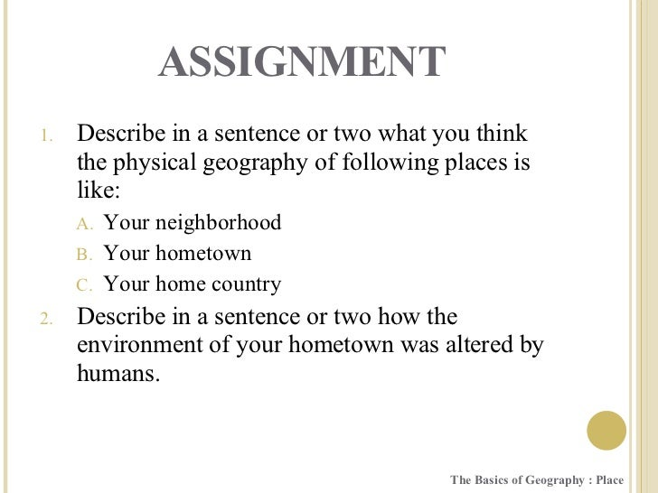 Geography the basics place for Soil in sentence