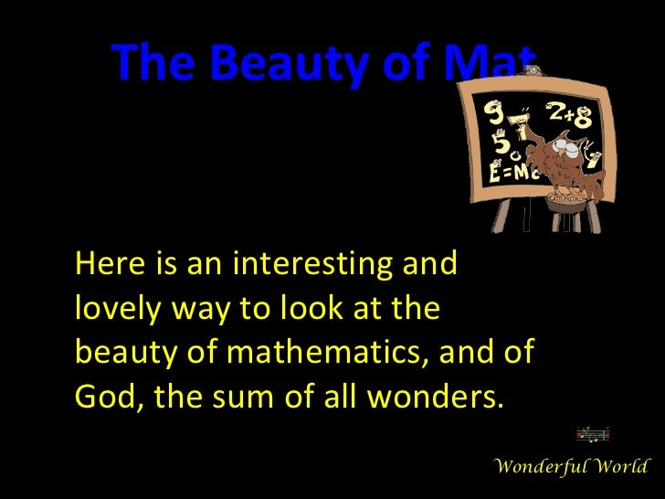 The beauty-of-mathematics