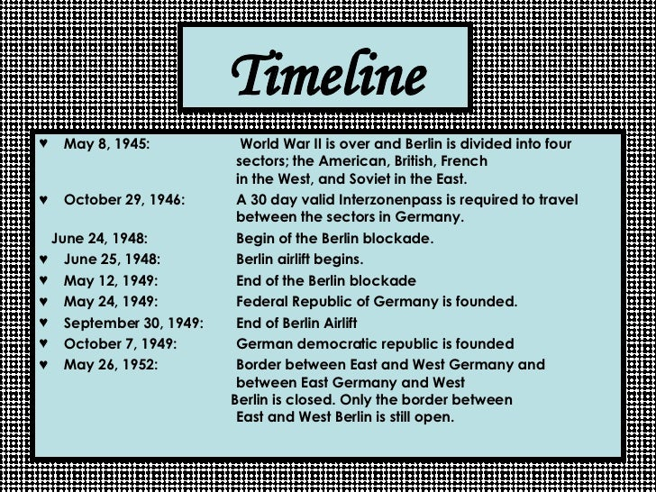 Berlin Wall Timeline Related Keywords & Suggestions - Berlin Wall ...