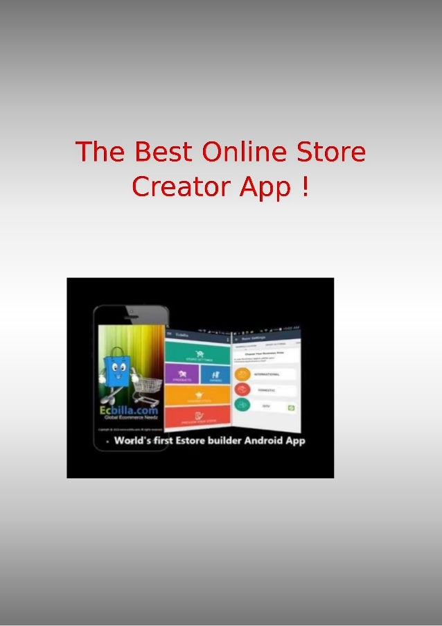 The Best Online Store Creator App