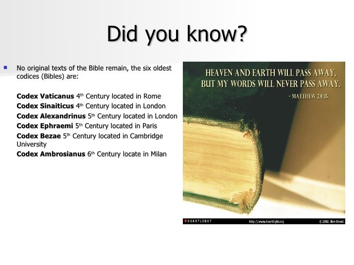 Did you know this about the bible?
