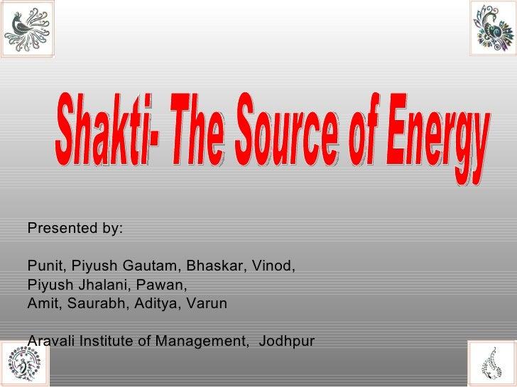 Presented by: Punit, Piyush Gautam, Bhaskar, Vinod,  Piyush Jhalani, Pawan, Amit, Saurabh, Aditya, Varun Aravali Institute...