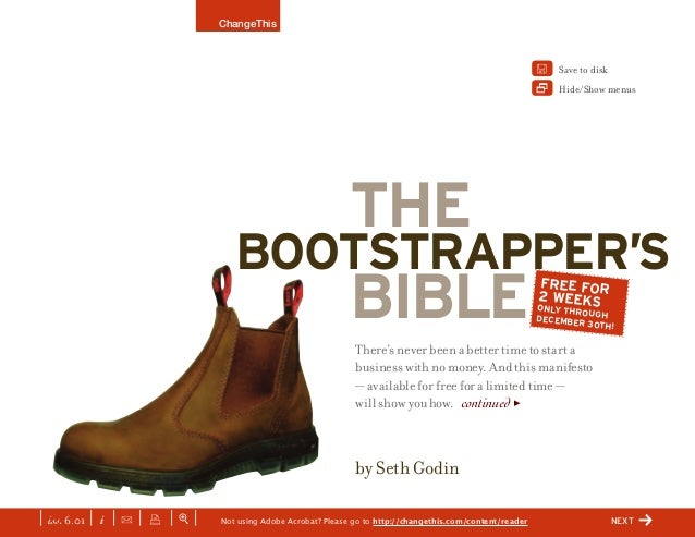 The Bootstrap Bible by Seth Godin