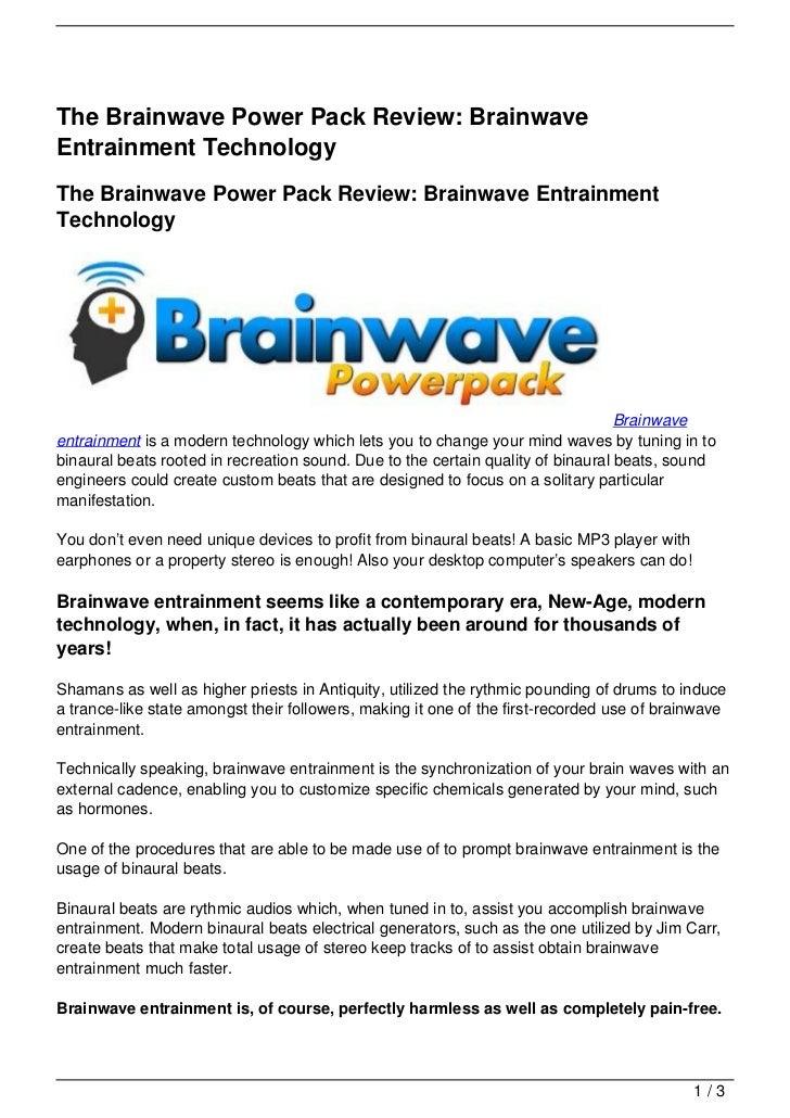 The Brainwave Power Pack Review: Brainwave Entrainment Technology
