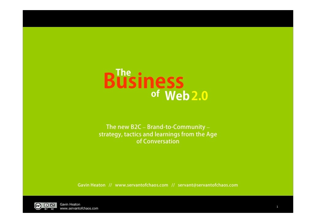 The                           Business                                of                Web 2.0                           ...