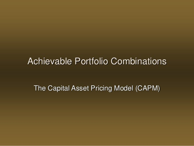 capital asset pricing model and arbitrage There are inherent risks in holding any asset, and the capital asset pricing model (capm) and the arbitrage pricing model (apm) are both ways of calculating the cost.