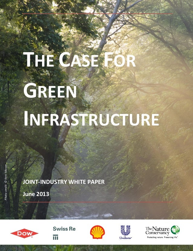1wasTHE CASE FORGREENINFRASTRUCTUREJOINT-INDUSTRY WHITE PAPERJune 2013Photocredit:©KentMason
