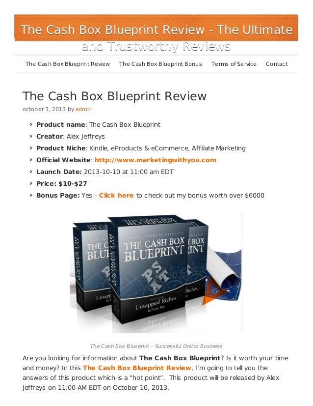 The Cash Box Blueprint - Huge Bonus over $6000